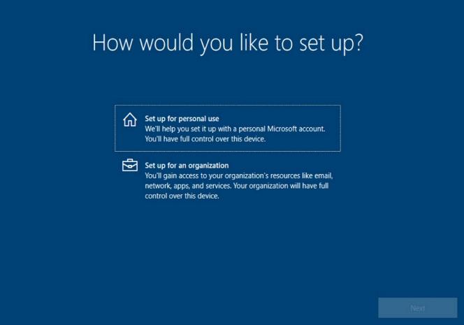 Windows 10 - configuration use