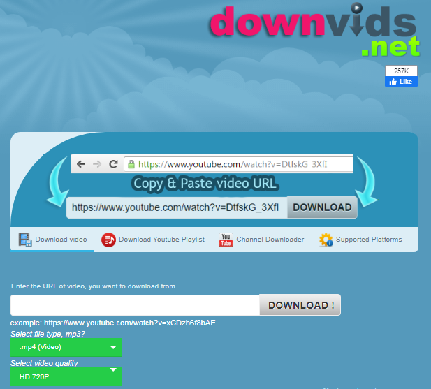 downvids.net - Download Video from Facebook and Youtube
