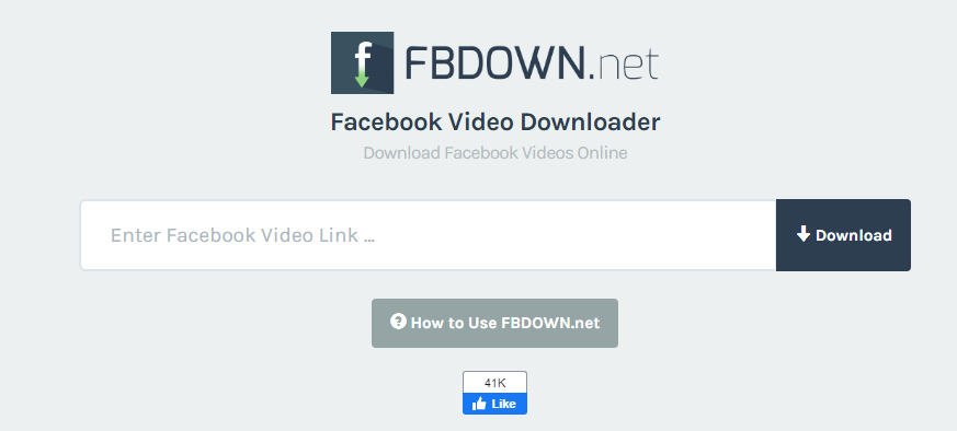 fbdown.net - Download Video from Facebook and Youtube