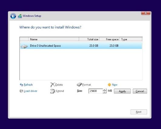 install-drive