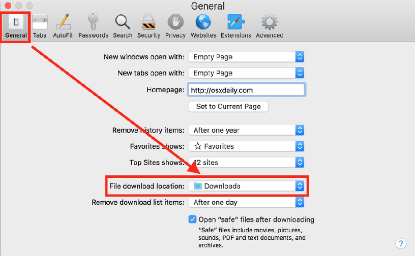 safari-change-downloads-folder