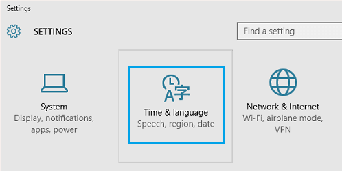 time-language-windows-10