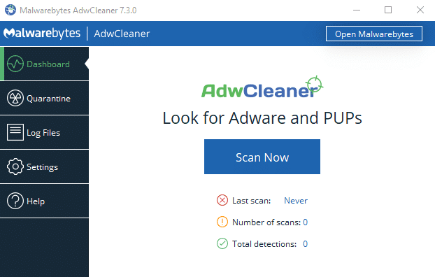 remove-cacaoweb-with-adwcleaner